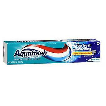 Abreva Aquafresh Fluorure Dentifrice Extra Fresh Whitening, 5,6 Oz