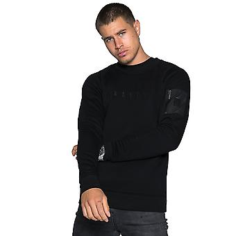 Raith Crew Zip Pocket Sweatshirt - Black