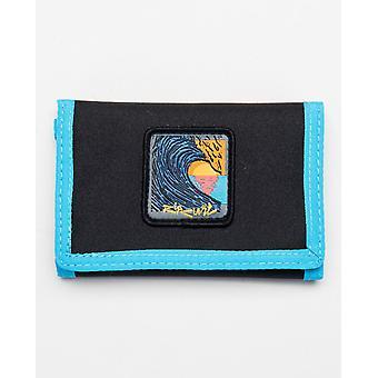 Rip Curl Trifold Wallet ~ Badge Surf black blue