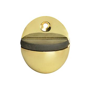 Forge Oval Door Stop Brass Finish 40mm FGEDSOVALBR