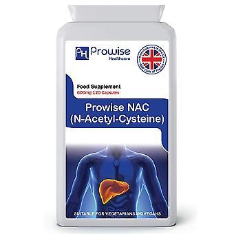 NAC N-Acetyl- Cysteine 600mg 120 Capsules | Suitable For Vegetarians & Vegans | Made In UK