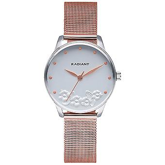 Radiant Metal & Roses Watch for Women Analog Quartz with Stainless Steel Bracelet RA548603