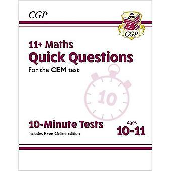 Nye 11 + CEM 10-minutters tests: matematik hurtige spørgsmål-aldre 10-11 (med online udgave)