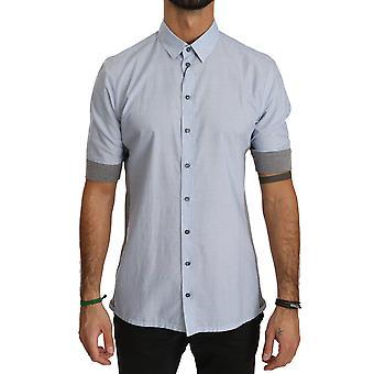 Dolce & Gabbana Sininen Valkoinen Lyhythihainen Puuvilla paita