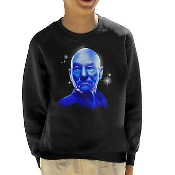 Star Trek Picard Blue Glow Illusion Kid's Sweatshirt