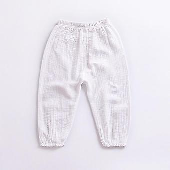 Summer Linen Pleated Ankle-length Pants