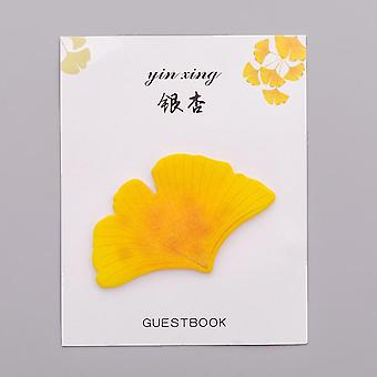 Cute Creative Small Fresh Leaves Sticky Notes, Simulation Stickers