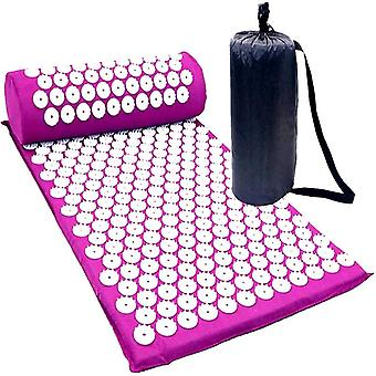 Nail mat with pillow for massage and relaxation Purple