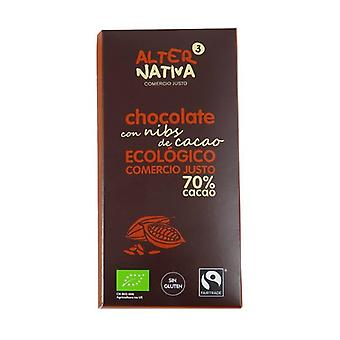 70% Chocolate with Organic Cacao Nibs 80 g