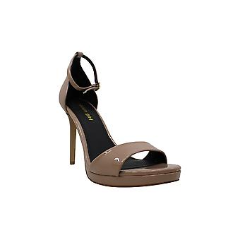 Madden Girl Womens Flashy Leather Open Toe Ankle Strap Classic Pumps