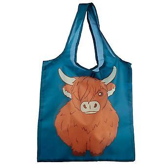 Faltbare wiederverwendbare Einkaufstasche - Highland Kuh