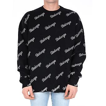 Balenciaga 646493t41121070 Mænd's Sort Uld Sweater