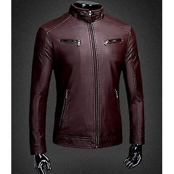 Hommes Split Leather Jacket Zipper New Arrival Automne Slim Short Male Moto
