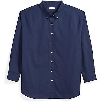 Essentials Men&s Big & Tall Long-Sleeve Oxford Shirt, DXL, Navy tarafından uygun,...