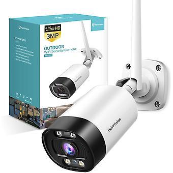 Caméra de sécurité extérieure, HeimVision HM311 2K WiFi Smart Camera with Floodlight, Color Night Vision, 2-Way Audio, Motion Detection, Siren Alarm, Message Alert, MicroSD/Cloud Storage, Weatherproof