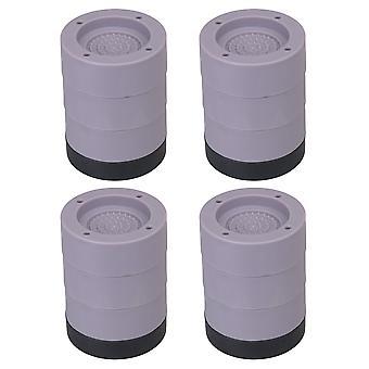 4pcs Wasmachine en Droger voeten grijze anti-vibratie pads Matten Verhogen 9cm