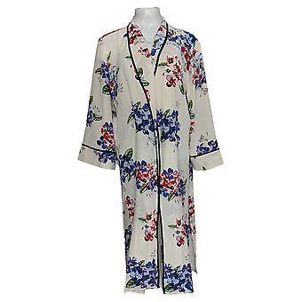 Laurie Felt Women's Top Geprinte Kimono Duster Ivory A352558
