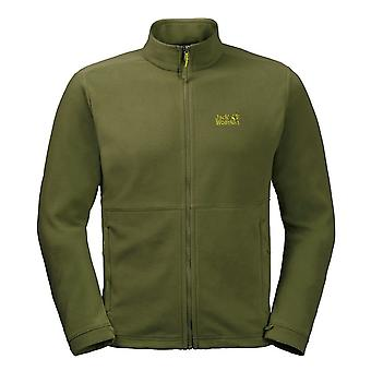 Jack Wolfskin Kiruna Mens Jacket Zip Up Fleece Jumper Green 1704672 4521