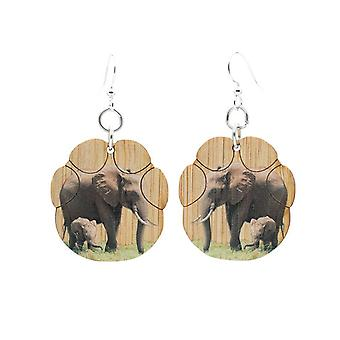 Cercei din bambus elefant