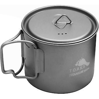 TOAKS Titanium 550ml Pot with Foldable Handles POT-550-L - Outdoor Camping Camp