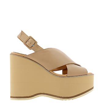 Paloma Barceló Mazaruninapasoftnocciola Women's Beige Leather Sandals