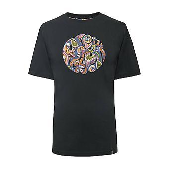 Pretty Green Paisley Logo T-Shirt - Black