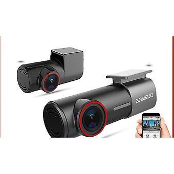 מכונית דאש מצלמת מצלמה קדמית אחורית Dvr גלאי עם WiFi Fhd מקליט וידאו 24h