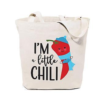 I'm En liten chili-bomull duk tote väska
