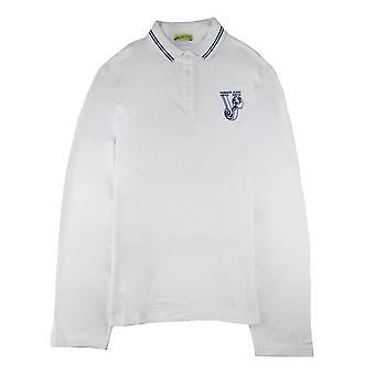 Versace Jeans Haftowane logo L/s Polo White