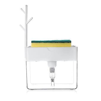 Soap Pump Dispenser, Liquid Dispenser, Container With Sponge Holder