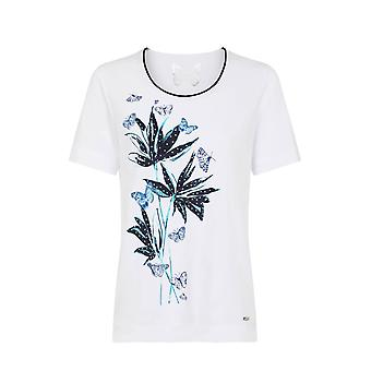 TIGI Flower and Butterfly Print Top