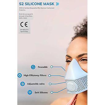 Maske 10 Utskiftbare N99-filtre, Steriliserbare hjem, lyseblå