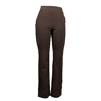 IMAN Global Chic Women's Pants 360 Slim Ponte Boot-Cut Red 722-480