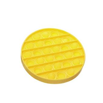 Yellow Portable Push Bubble Fidget Sensory Toy Autism Special Needs Stress Reliever Washable Ornament Office