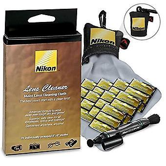 Nikon rengjøringspakke inkluderer nikon fuktig klut linse rengjøringsmidler + nikon linse rengjøring penn + nikon mikrofiber linse rengjøring