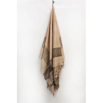 "Spura Home Indian Handmade Artisan Harda Border Warm Silk Throw 50""x70"""