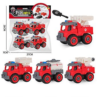 Children's educational fire truck toy