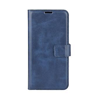 المغناطيسي حقيبة جلدية أنيقة ل Realme C11 - أزرق