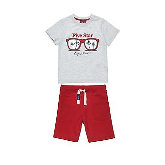 Alouette Boys' T-Shirt Set With Foil Printing And Shorts