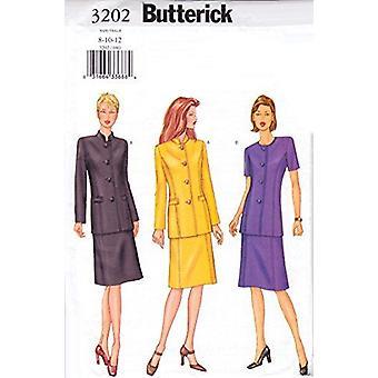 Butterick نمط الخياطة 3202 يفتقد سترة تنورة حجم 8-12 غير المصقول
