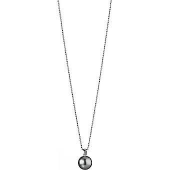 Collana Adriana Pearl Tahiti nero 12-13 mm argento rodiato placcato 90 cm I17
