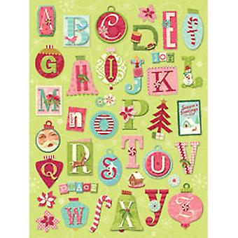 K & Co - Peppermint Twist Ornament Alphabet Grand Adhesions