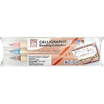 Kuretake Zig Calligraphy Pens - 3 Colour Blending Set - Hope