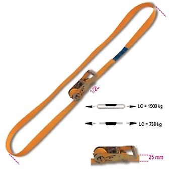 Beta 081850005 8185 25-MT5 Ring Ratchet Tie Down Lc 1500kg Hi-Ten Belt 25mmx5m
