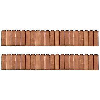vidaXL Bordures de parterre 2 pcs 120 cm Bois de pin imprégné