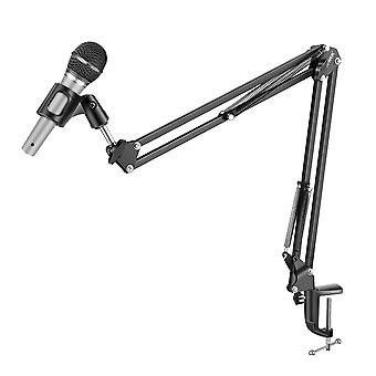 Microphone Stand Articulated Suspension Arm Folding Desk Mount LinQ Black