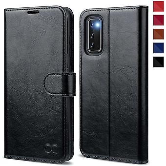 FengChun Samsung Galaxy S20 Hülle Handyhülle [Premium PU Leder] [Standfunktion] [Kartenfach]