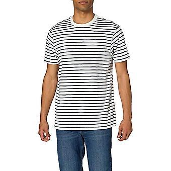 Springfield Camiseta Regular Rayas Reconsider T-Shirt, Medium Blue, XL Men's
