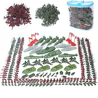 337pcs World War Military Soldiers Set Battlefield Figures Playset With Aircraft Carrier