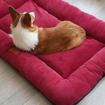45 * 35 * 7cm rød kjæledyr pad innendørs hele sesongen vannavstøtende holdbar hundeseng x4815